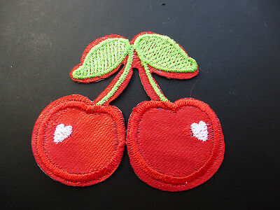 1970s Style Cherry Iron-0n 6cm Patch - Perfect for your Denim Jacket...