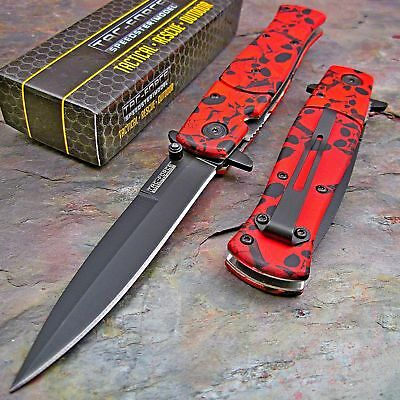 TAC-FORCE TF-804RD Spring Assisted Tactical Rescue Folding Pocket Knife