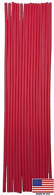"""16pk 12"""" RED Adhesive Glue Lined 1/8"""" Heat Shrink Tubing 3:1 16FT 30-18 AWG USA"""