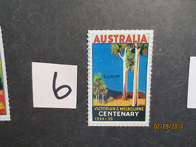 No-6----1934   CENTENARY  OF  VICTORIA & MELBOURNE --CINDERELLA  SINGLE  ISSUE'S