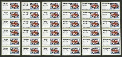 Jersey 2014 Stampex Union Flag Atm Post & Go Set Mnh