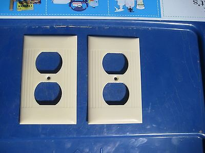 Vintage SIERRA ELECTRIC 1-Gang Duplex Outlet Receptacle Wall Plate Set of 2 USA
