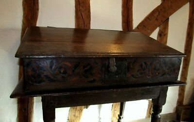An  Oak Desk Box c. 1580-1600