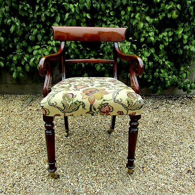 Regency high seat scroll arm chair /office c1830