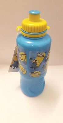 Childrens Kids Character Sports Drinks Bottles School Lunch Water Juice Minions