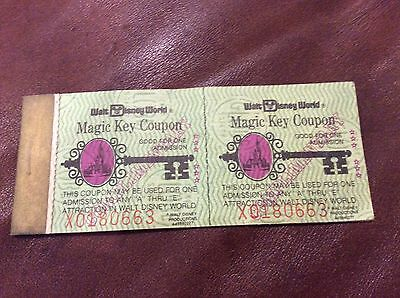 Vintage Walt Disney World Magic Key Coupon Book- RARE Complimentary Guest Book