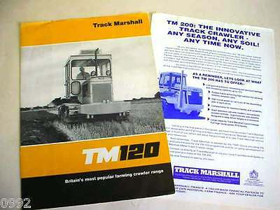 Track Marshall TM120 Crawler Tractor, 5 Page, Brochure                     #
