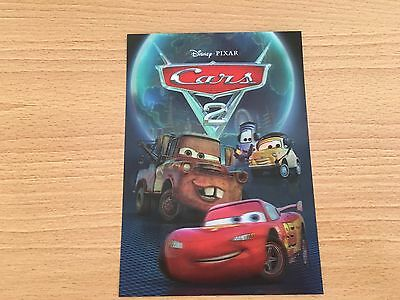 Disney Pixar Cars 2 3D Lenticular Collector Card