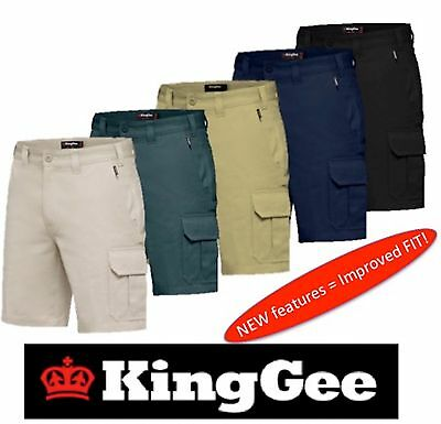 King Gee  -  Mens New G's Worker Drill 7 Pocket Cargo Shorts K17100