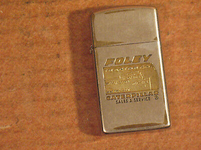 Vtg 1950's Foley Tractor Co CATERPILLAR Kansas Slim Zippo Cigarette Lighter