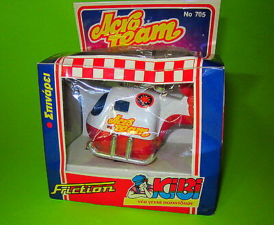Rare Vintage 80'sGreek  Friction Motor Helicopter Toy KIBI Vasiliades New Boxed