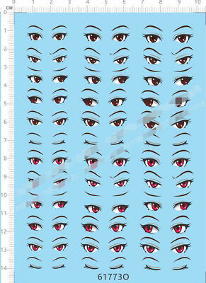 Clay Garage Kits Doll Figures EYES collections O Model Kit Water Decal