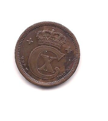 1913 Denmark One Ore---Dark Chocolate Patina!!