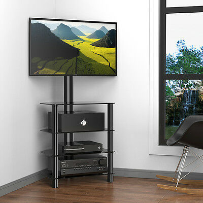 Fitueyes Corner Tv Stand With Swivel Mount For 32 Quot 50 Quot Tvs