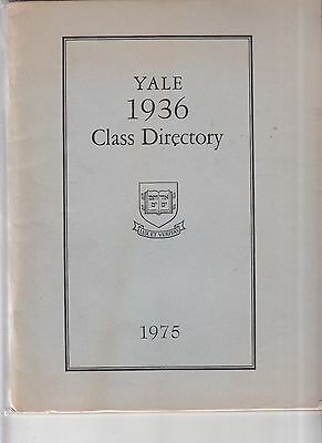 Vintage 1975 Yale 1936 Class Directory