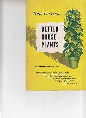 Vintage 1952 How to Grow Better house plants Booklet