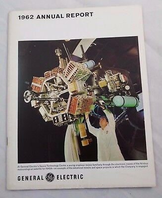 1962 GE General Electric Annual Report NASA Space Program Technology Computers