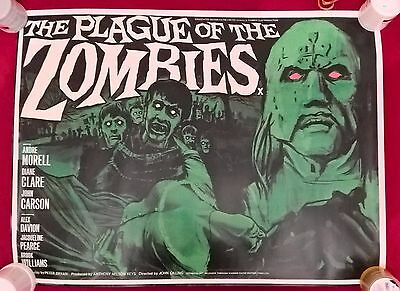 Plague Of The Zombies -  Uk  Quad  Repro  Poster.30 X 40  Inches .rolled