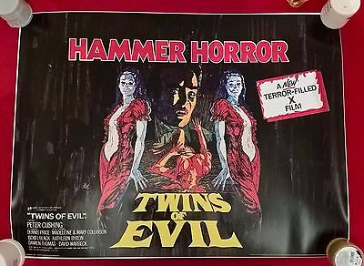 Twins Of Evil -  Uk  Quad  Repro  Poster.30 X 40  Inches .rolled