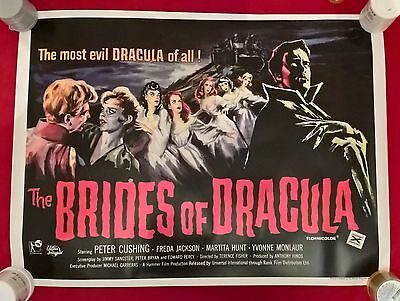 Brides Of Dracula  -  Uk  Quad  Repro  Poster.30 X 40  Inches .rolled