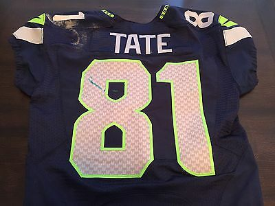 2012 Seattle Seahawks #81 Golden Tate Jersey Game Used VS. Dolphins Photo Match
