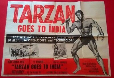 Tarzan Goes To India .  - 1962- Uk Quad Poster Original .