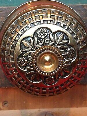 Antique Corbin Bronze Victorian Mechanical Door Bell Ornate
