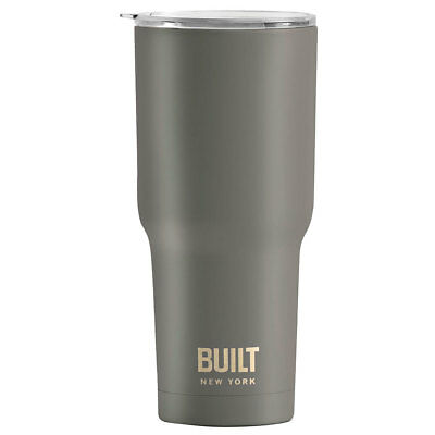Built NY 887ml Vacuum Insulated Tumbler/Stainless Steel/Cold/Hot/Drink Charcoal