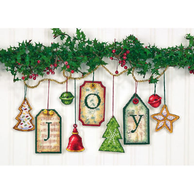 brand new unused unopened Joy Tag Ornaments, Counted Cross Stitch_