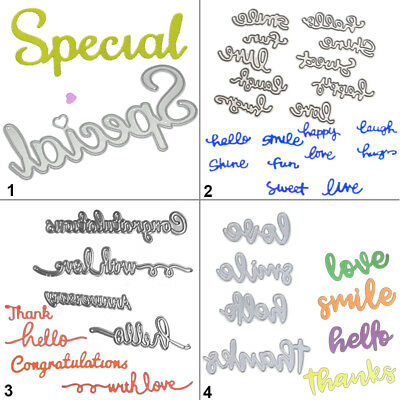 Special Letter Cutting Dies Stencil DIY Scrapbooking Album Paper Card Embossing