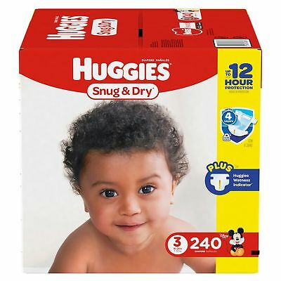 Huggies Snug & Dry Diapers Size 3, 240 Count - Free Shipping