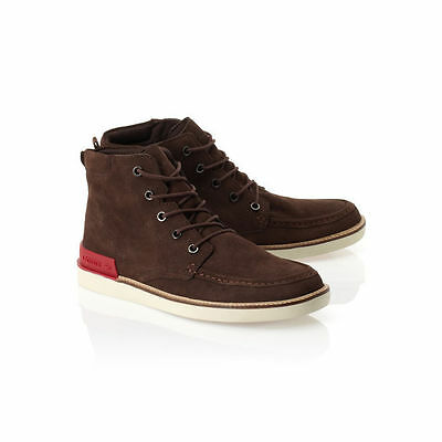 eea25e60e4705 NWT Lacoste Zinder Sneakers Shoes Brown Suede Ankle Boots Men Sz 8