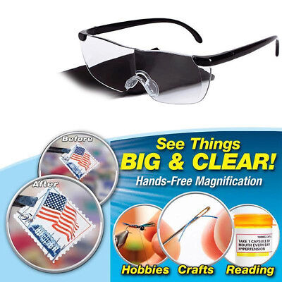 Big Vision Magnifying Presbyopic Glasses Eyewear Magnification Lens Gift Unisex