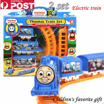 2 Set Thomas Train Track Electric Kids Playing Toys Railways Toy present gifts