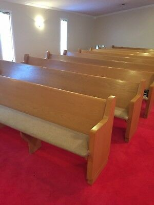 Used 18 church pews