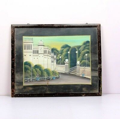 Vintage Hand Painted Painting With Wooden Frame-Ebay3386