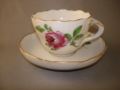 Dresden Shlierwald Rose Cup and Saucer Rare !