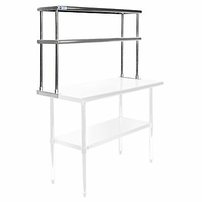 Gridmann NSF Stainless Steel Commercial Kitchen Prep  Work Table 2 Tier Double