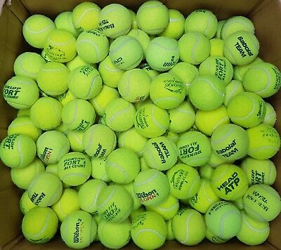 40 Used Grade 1 Tennis Balls - Ball Games / Dog Toy. All Machine Washed