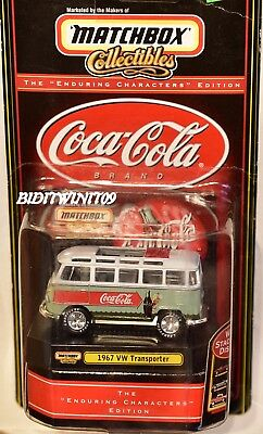 Matchbox Collectibles Coca Cola 1967 Vw Transporter Bent Card W+