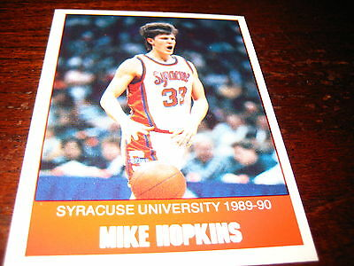 UNIV.  WASHINGTON HUSKIES; HEAD COACH; Mike HOPKINS Rookie CARD;1989-90;Unique