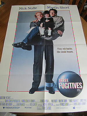 Three Fugitives - 1989  Original Australian one sheet