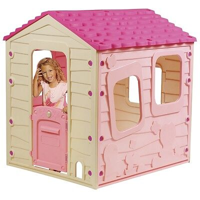 Sizzlin' Cool Meadow Cottage In Pink Toy Play House Childrens Outdoor Playhouse