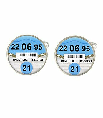 Personalised 21st Birthday Car Tax Disc Mens Cufflinks Ideal Birthday Gift c462