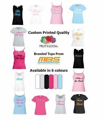 Hen Party T-Shirt Vest Top Bride Bridesmaids Night Do Custom Print Personalised