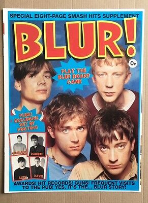 BLUR Original Vintage Smash Hits Magazine Supplement / Posters