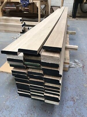 Solid Oak Skirting Board 95mm - BULLNOSE - Long Lengths A grade Oak *****