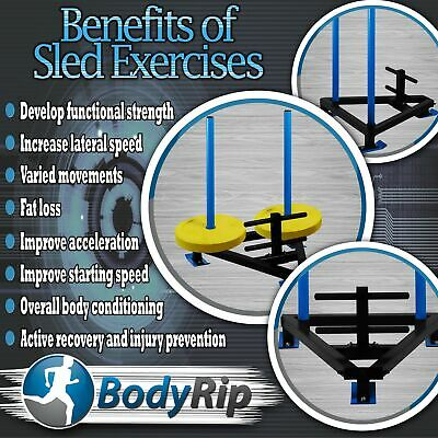 BodyRip Power Lifting Running Sled Gym Exercise Fitness Weight Drag Crossfit