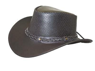 Thor Equine Leather Hat Cowboy Hat Western Hat, Sun, Summer Hat, Brown, S-XL