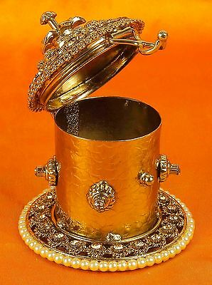SB-11 Designer Antique Indian Bridal Sindoor Box Tika Box Ethnic Women Jewelry